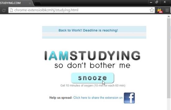 I-AM-STUDYING BLOCKER