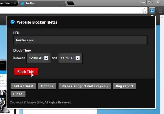 Website Blocker