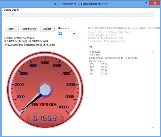Anvil's Storage Utilities - threaded IO test report