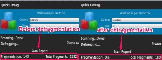 Quick Defrag- disk defragmentation software