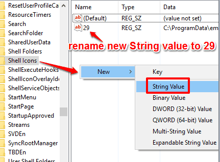 rename string value to 29