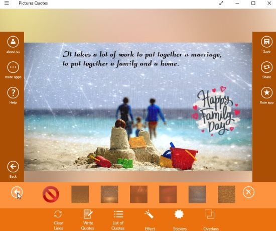 Windows 10 Picture Quotes Creator App