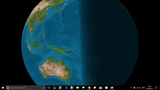 Earth Moon Illumination by Sun on Windows Desktop Globos