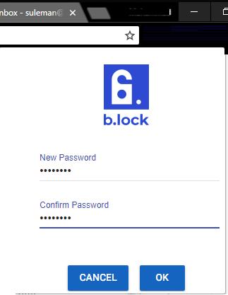 b.lock specify master passphrase