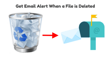 Get Email Alert When a Specific File is Deleted