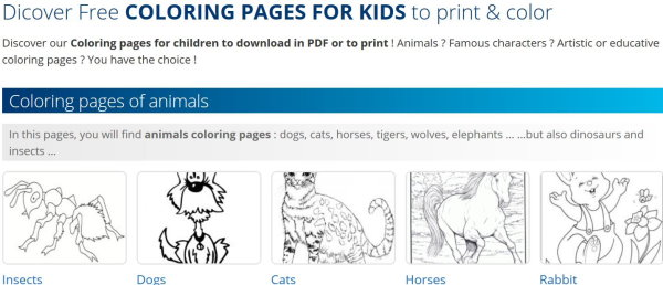 10 Websites with Free Printable Coloring Pages for Kids