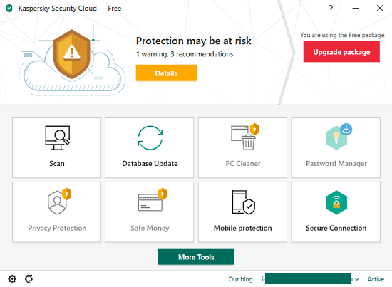 Kaspersky Security Cloud Free with Antivirus, VPN, Password Manager