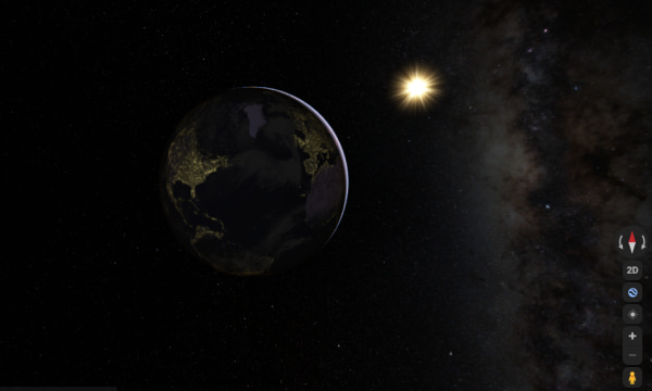 Explore Solar System in Google Maps via Hyperspace