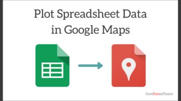 How to plot Spreadsheet Data in Google Maps?